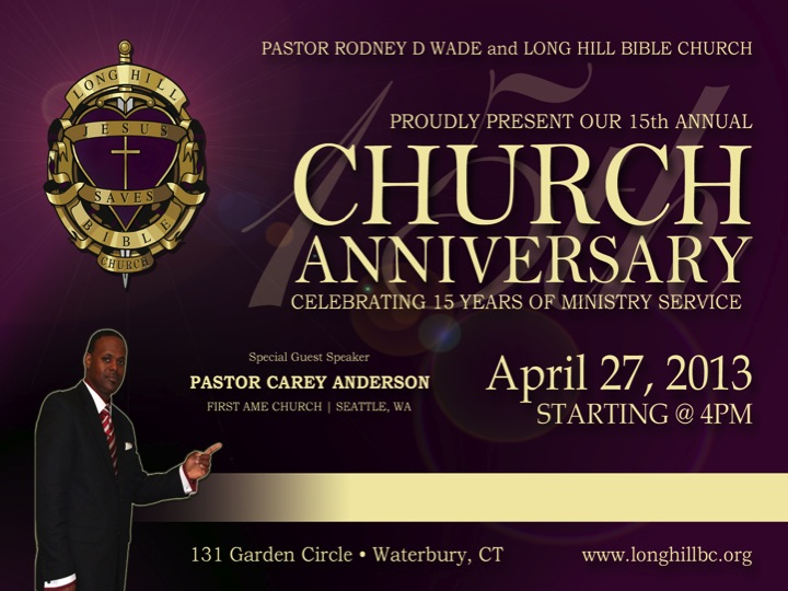 15th Church Anniversary 187 Events 187 Long Hill Bible Church